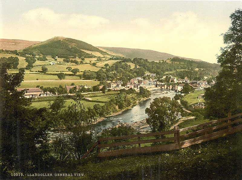 llangollen - general view in the 1890s