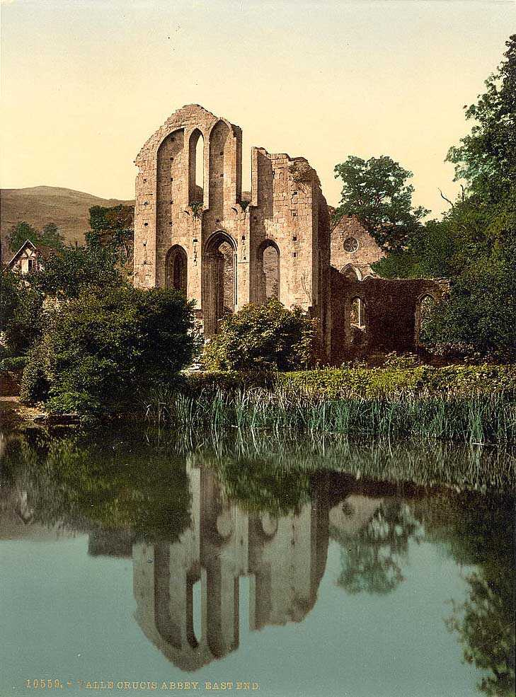 llangollen - valle crucis abbey old photo