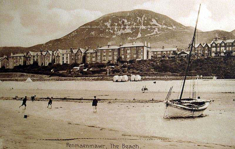 penmaenmawr, the beach old photo