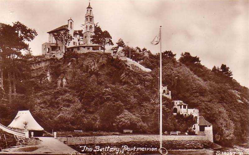 portmeirion - the battery old photo from the 1950's