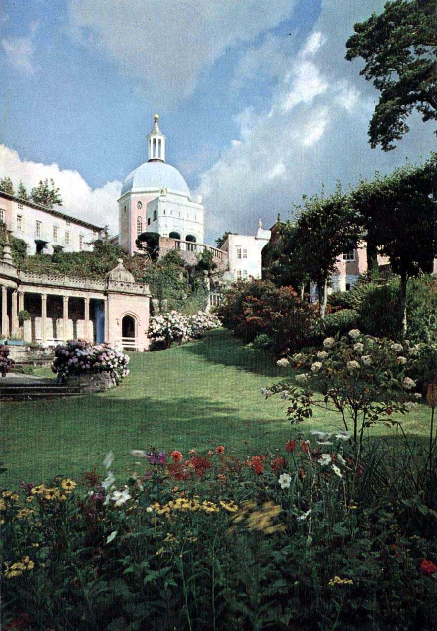 portmeirion beautiful garden scene in times past