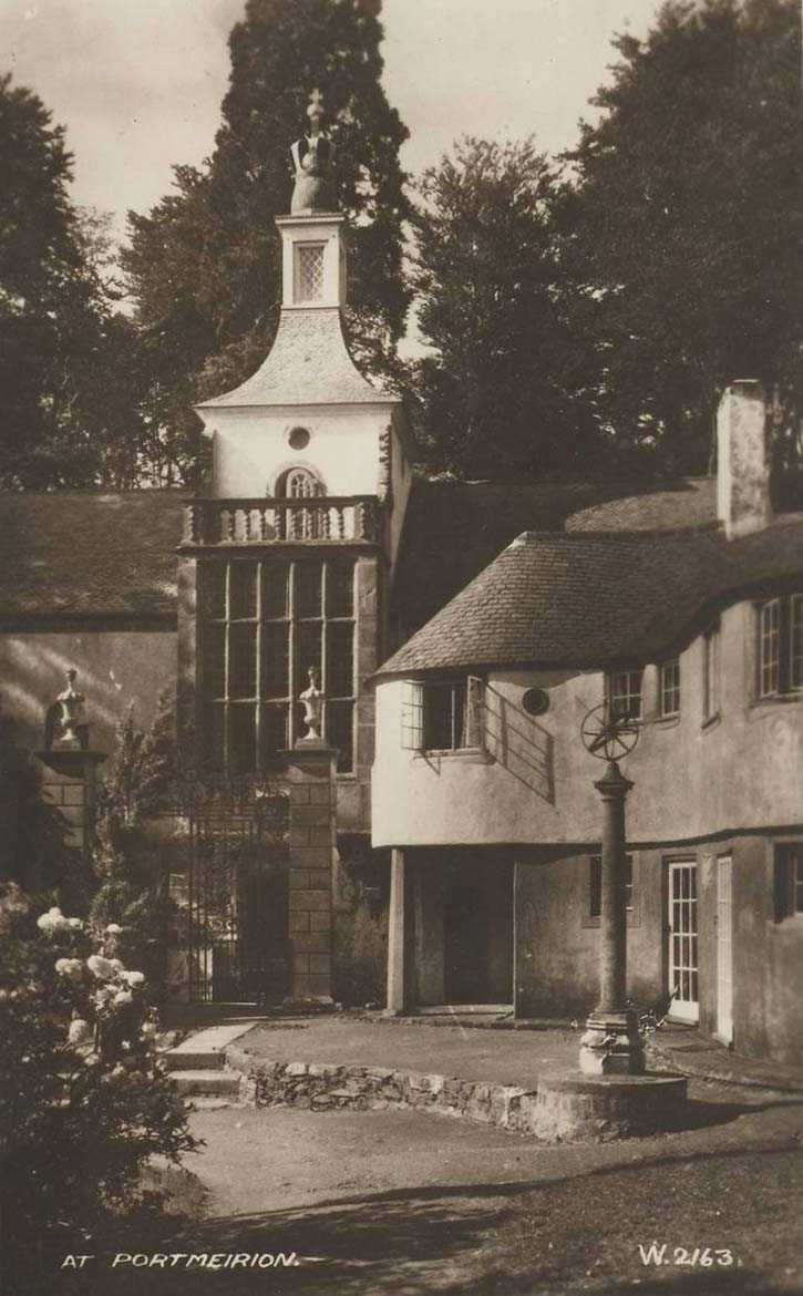 portmeirion old photo of houses