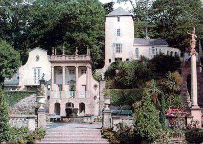 portmeirion, gloriette and teford's tower in times past
