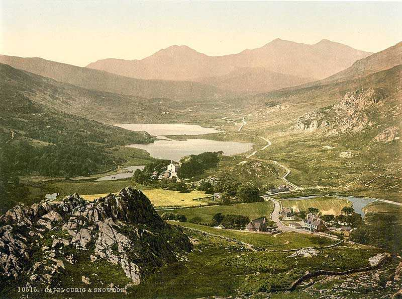 snowdon - capel curig in the 1890's
