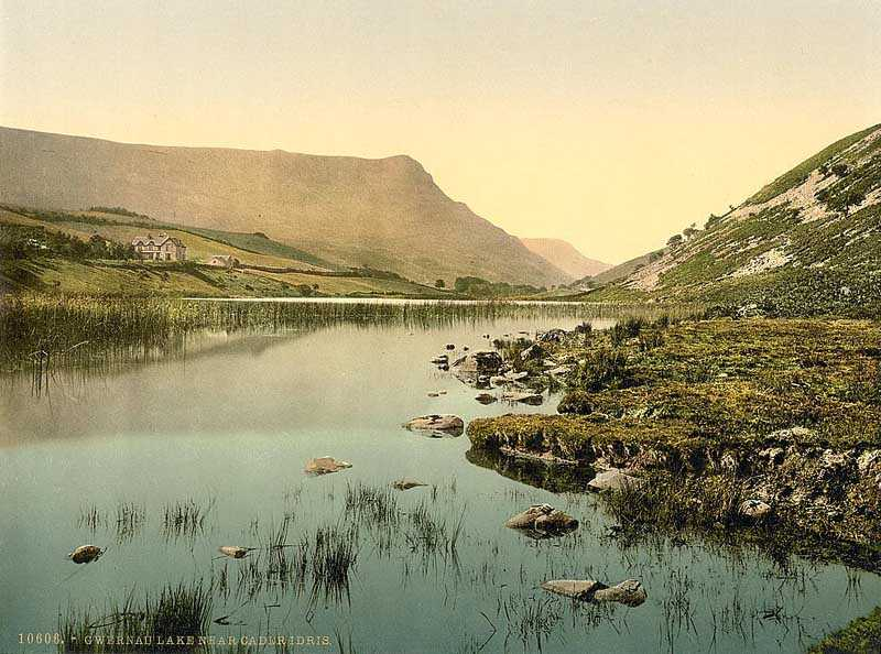 snowdon - cwernan lake and cadair idris in the early 1900's