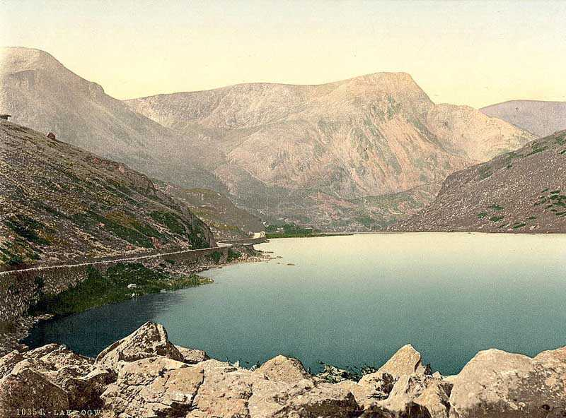 snowdon - lake ogwen, nant ffrancon in the late 1890's