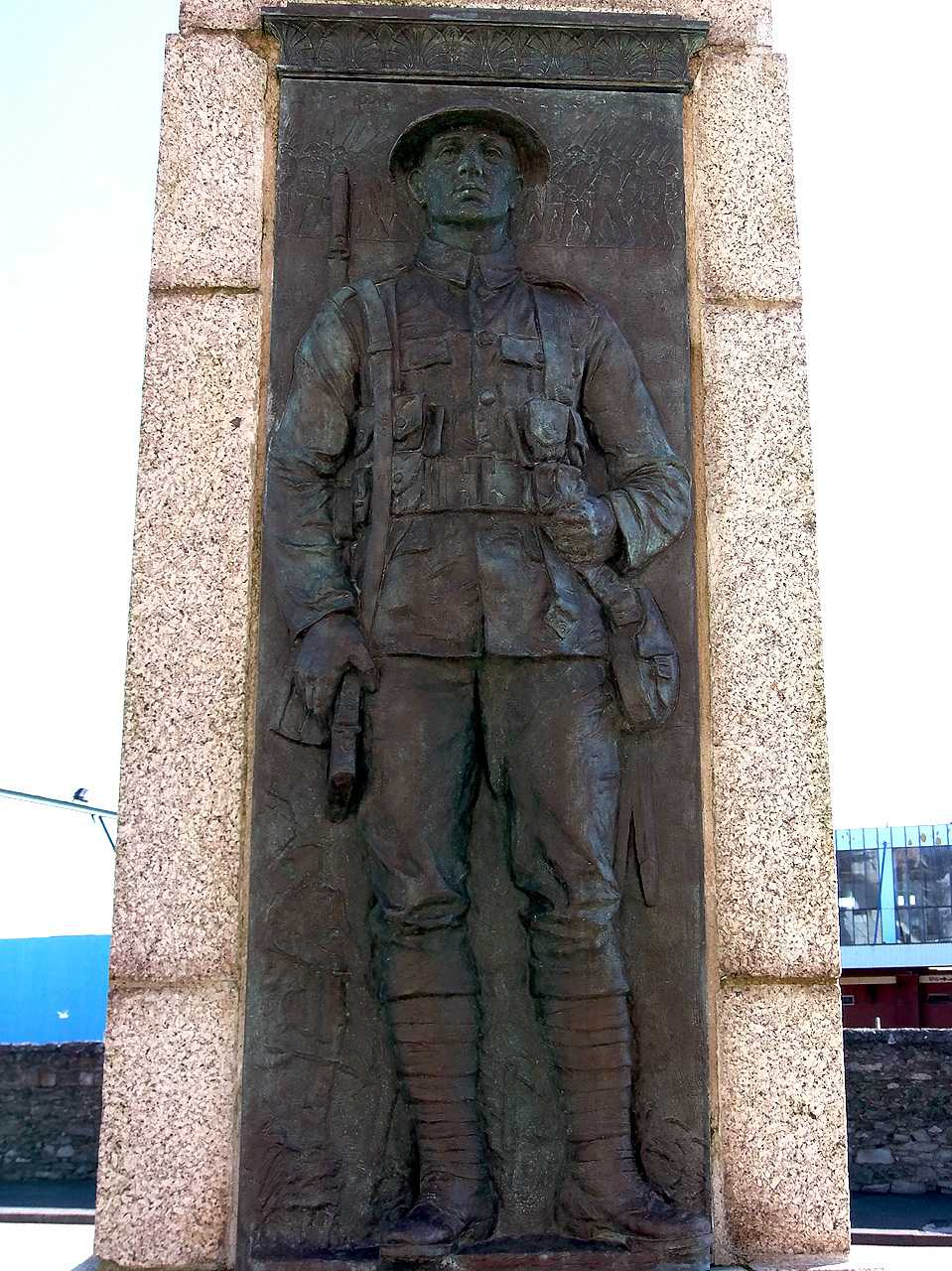 Holyhead War Memorial - Brass Soldier Full