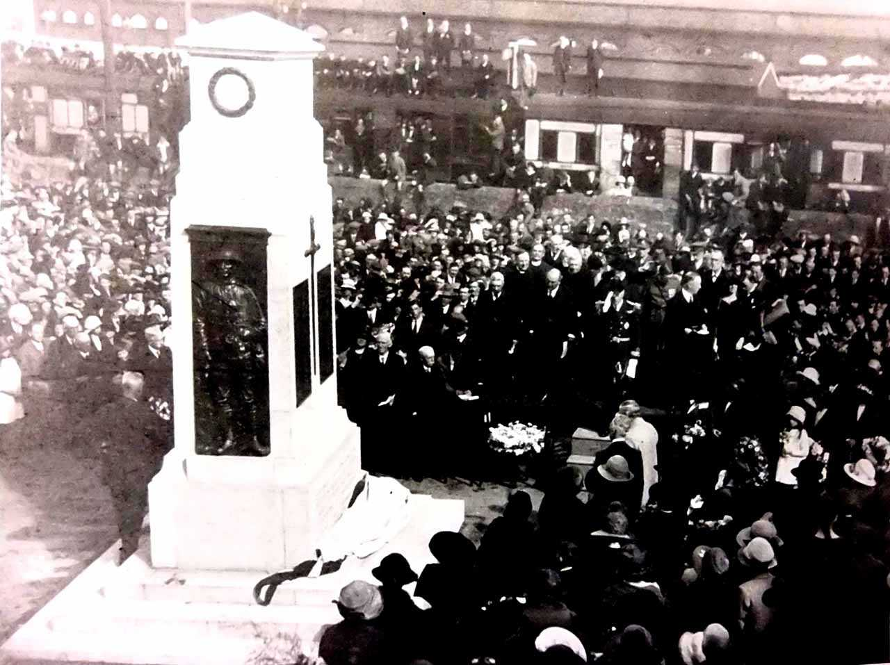 Holyhead War Memorial - Unveiling Ceremony 1923