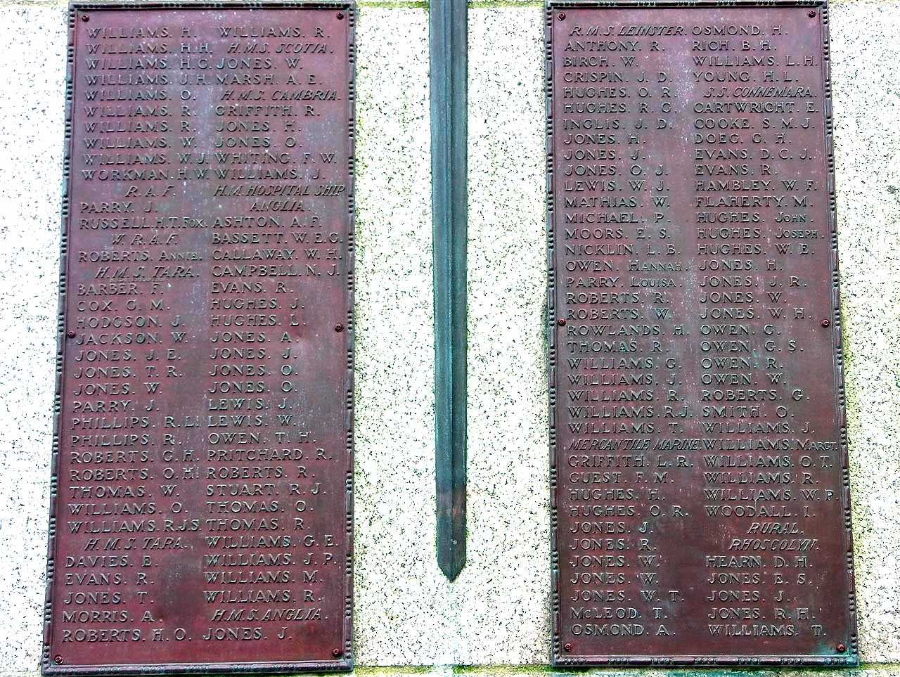 Holyhead, WWI Casualties