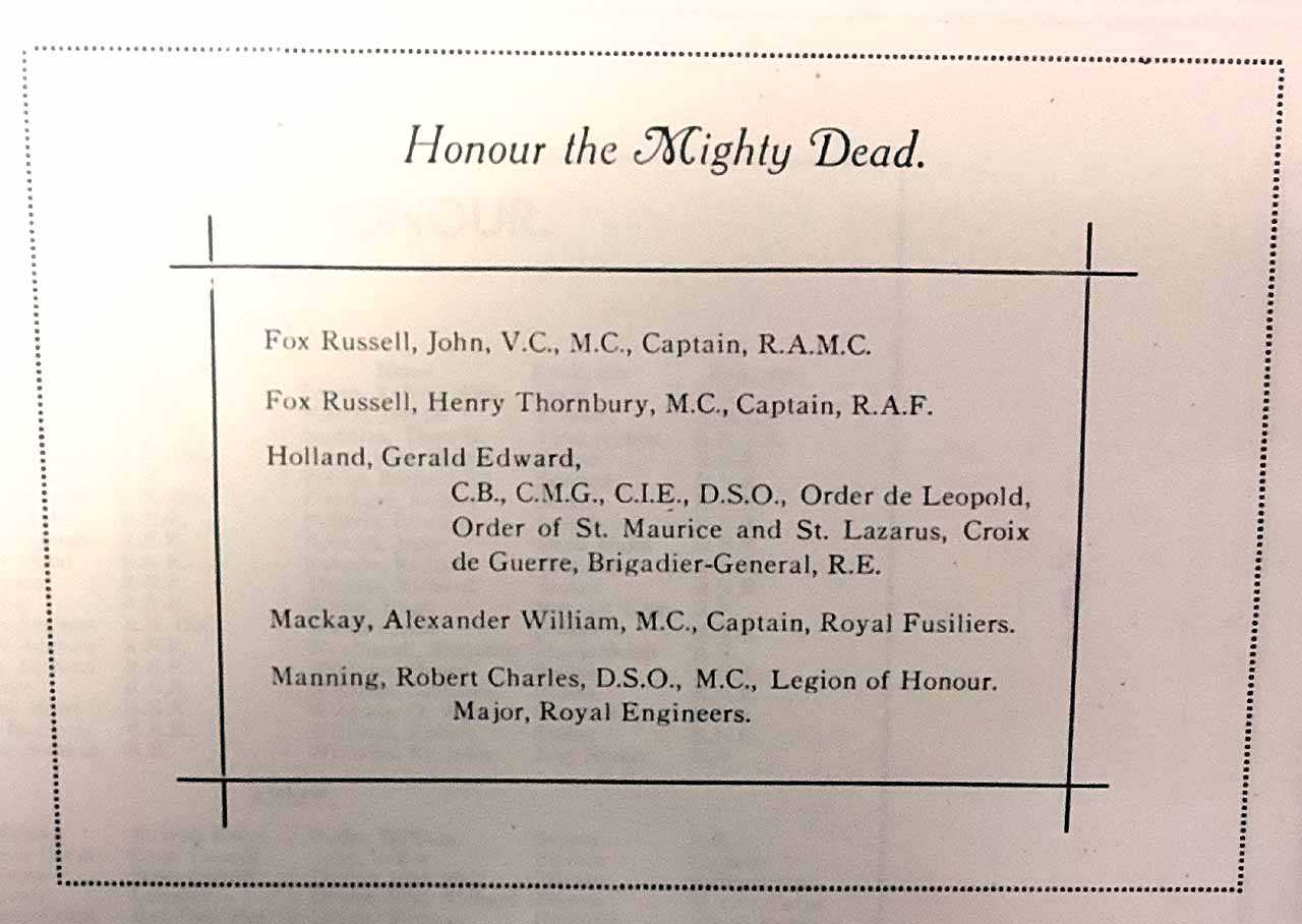 Honour the Mighty Dead