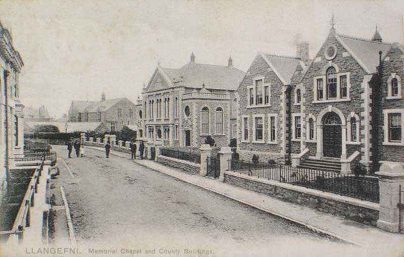 Anglesey, Llangefni, Memorial Chapel and County Buildings 1904