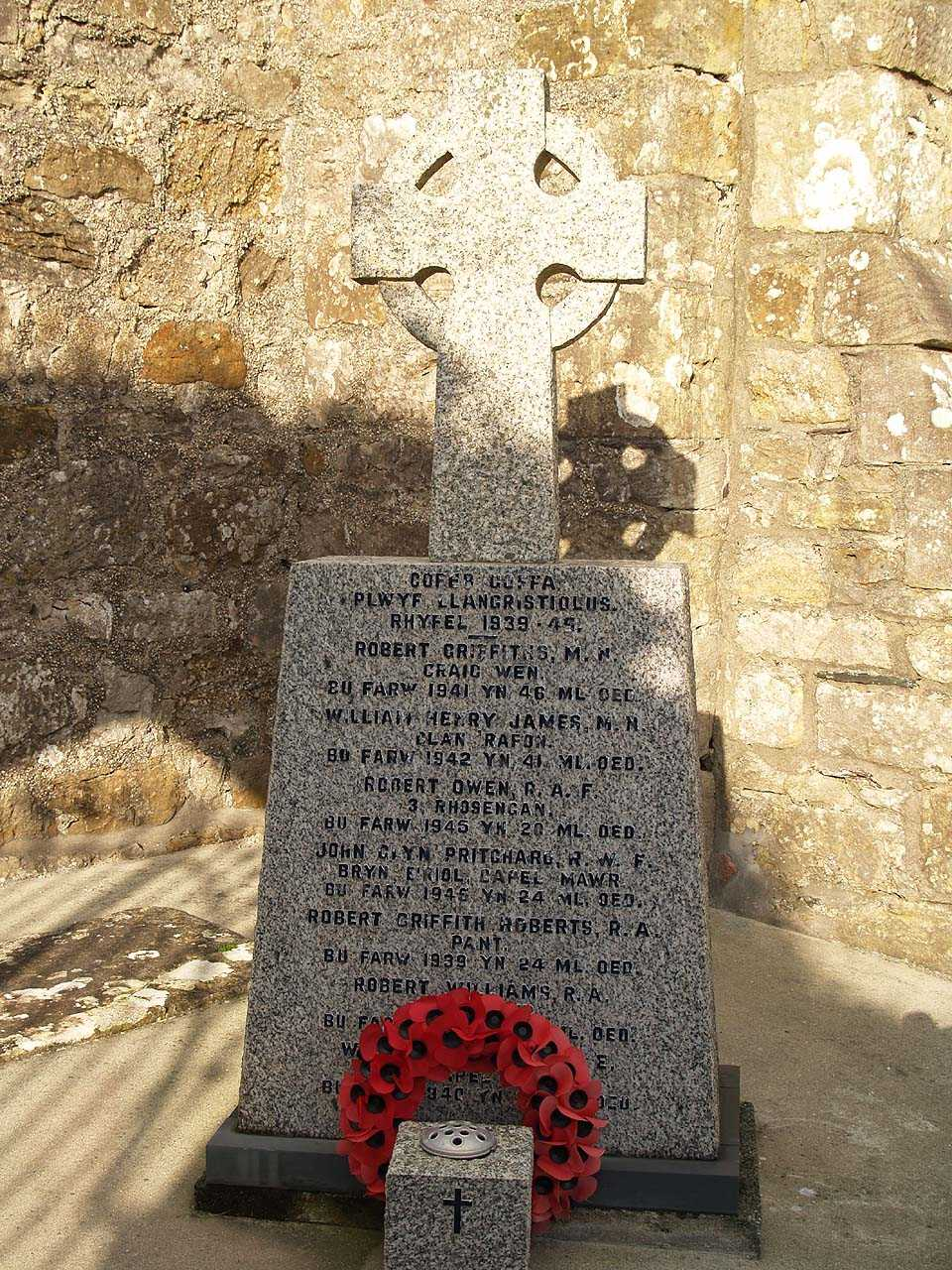 Anglesey, Llangristiolus, St Cristiolus's Church War Memorial