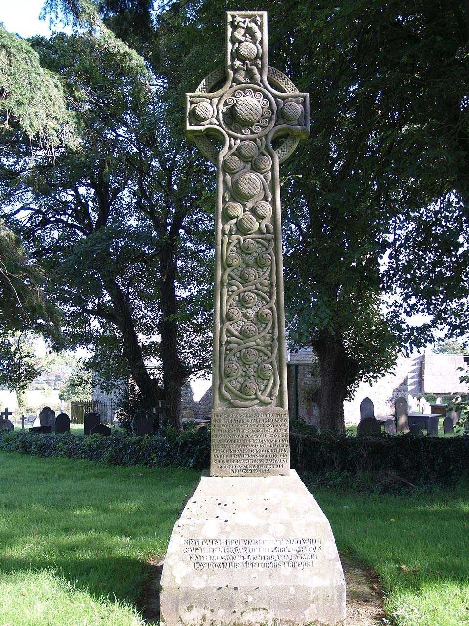Llansadwrn, Boer war Memorial to Hugh Stewart McCorquodale  - the Celtic Cross