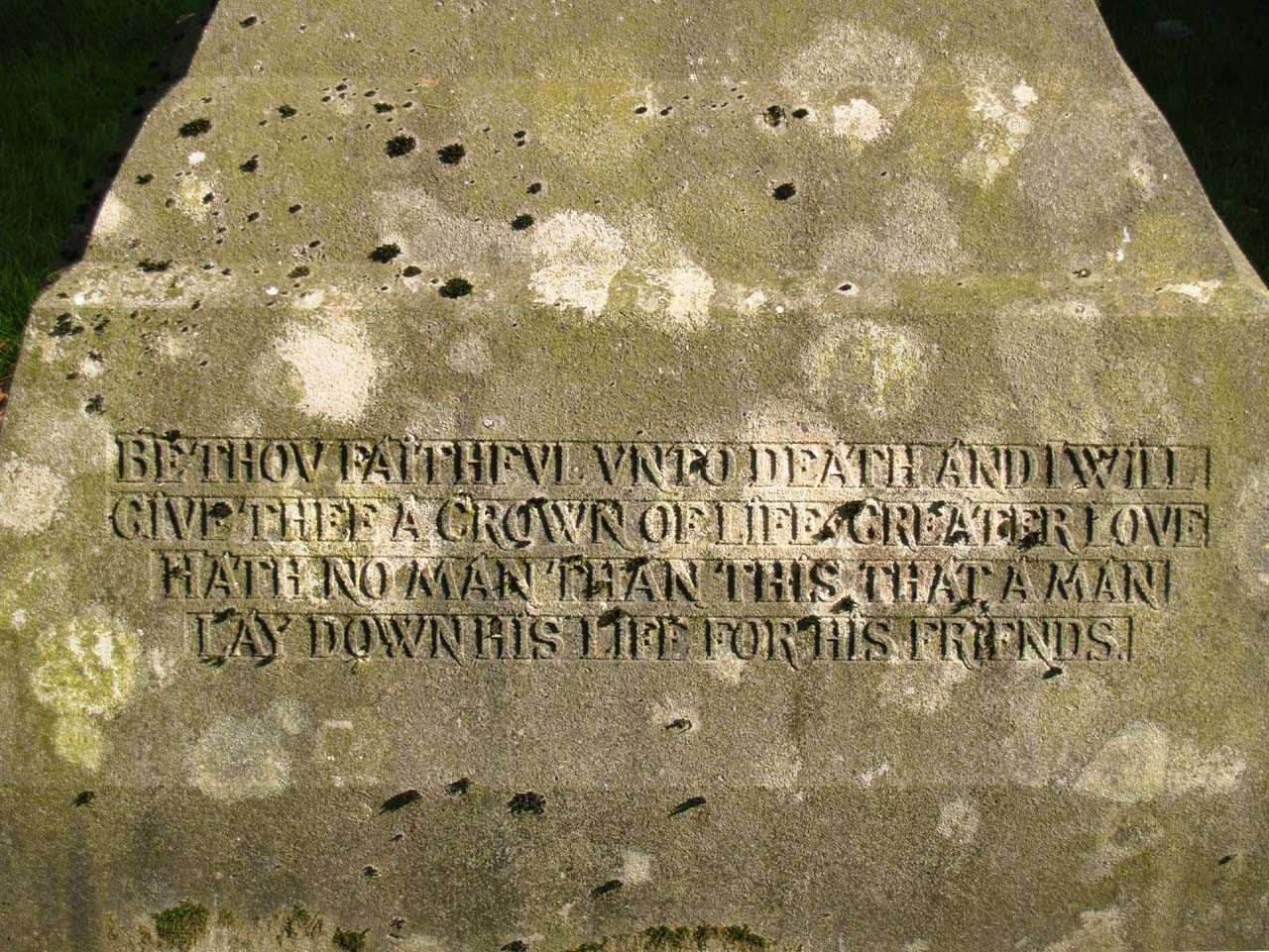 Llansadwrn, Boer War Memorial to Hugh Stewart McCorquodale - Second Inscription
