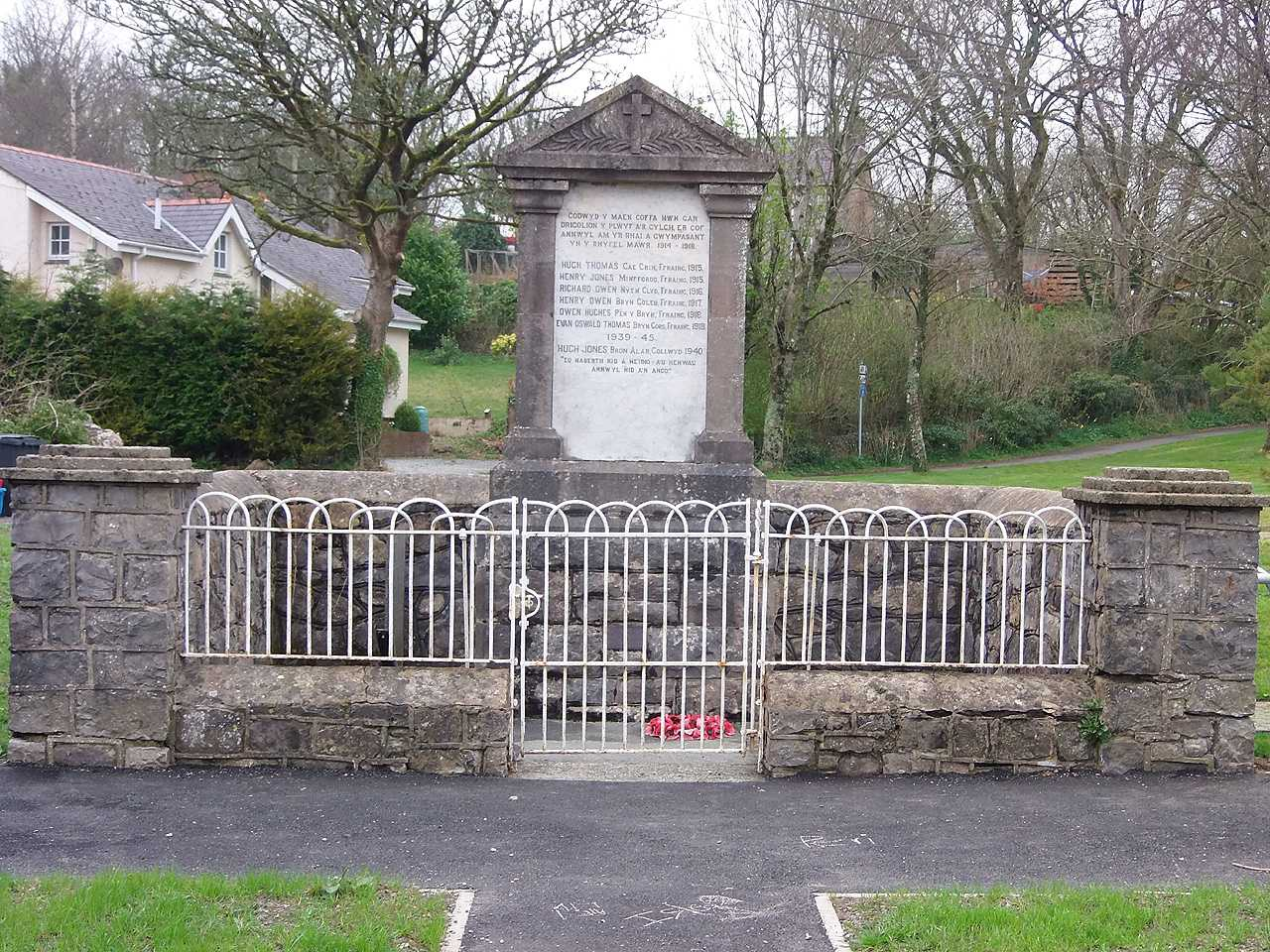 Anglesey, Talwrn War Memorial and Enclosure