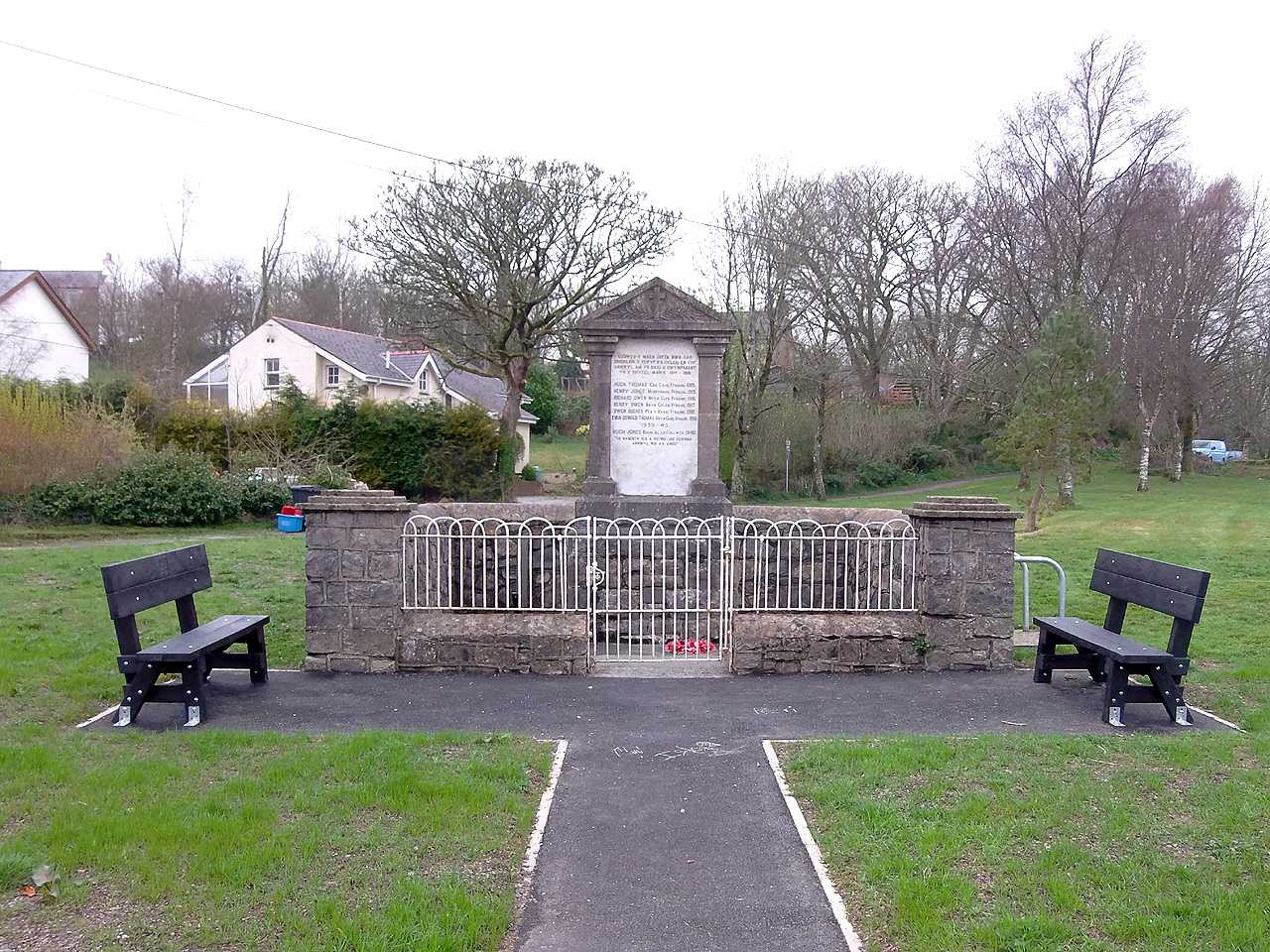 Anglesey, Talwrn War Memorial and Village Green