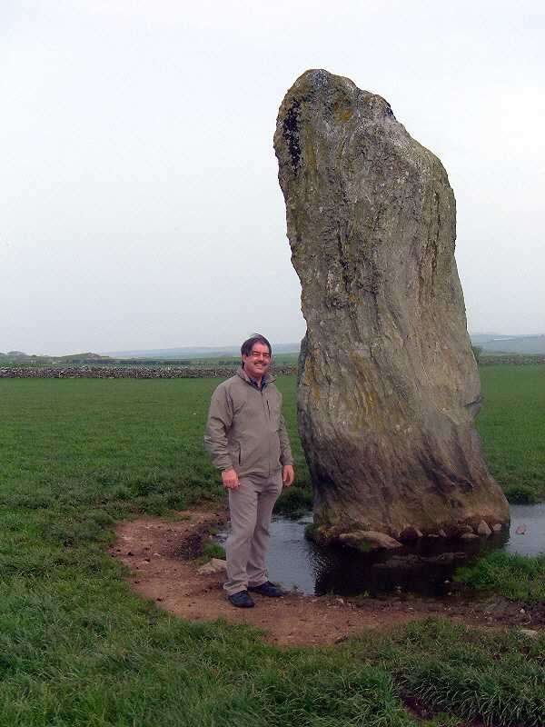 Plas Bodewryd Standing Stone and the webmaster