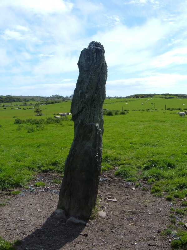 ty mawr standing stone side view
