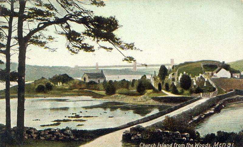 Church Island from the Woods 1900's