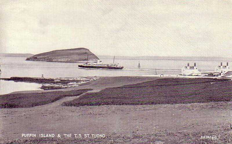 The St Tudno passing Puffin Island and Penmon