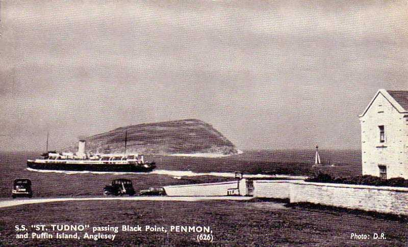 The St Tudno passing Puffin Island and Penmon 1950's