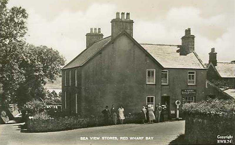 Red Wharf Bay, Sea View Stores 1940's