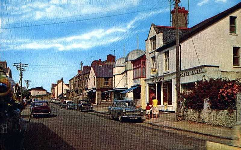 Rhosneigr High Street in the 1960's