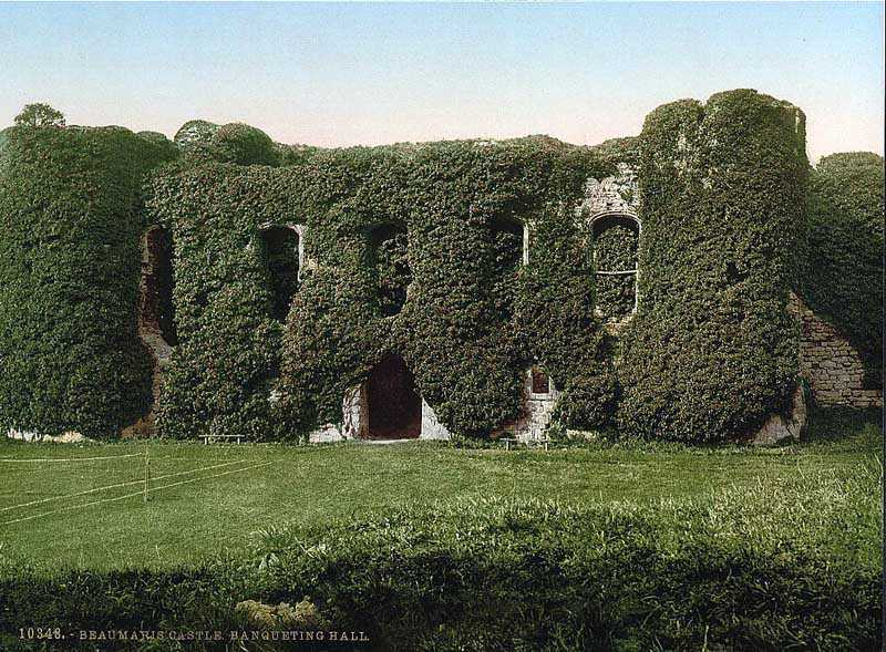Beaumaris Castle - The Banquetting Hall 1900's