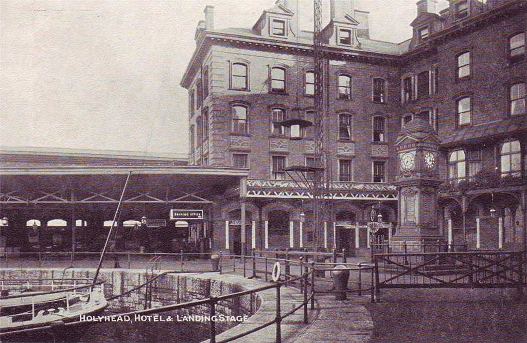 The Station Hotel and Landing Stage at Holyhead