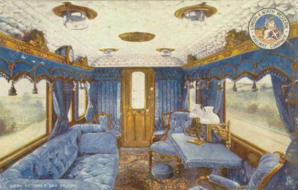 Holyhead, LNWR, Queen Victorias Day Saloon 1900