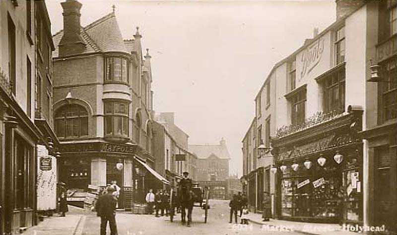 Market Street in Holyhead - evidently before it became one way