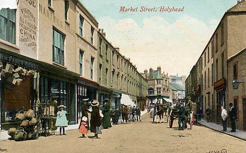 A 1900's view of Mrket Street in Holyhead