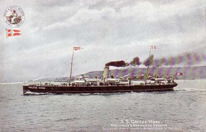 The SS Galtee More that once sailed out of Holyhead