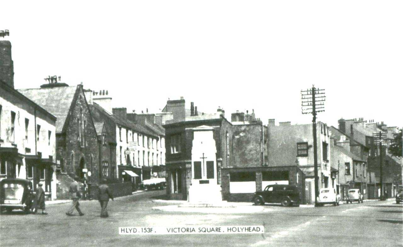 Victoria Square in Holyhead - when there was a chapel where St Mary's Catholic Church stands today