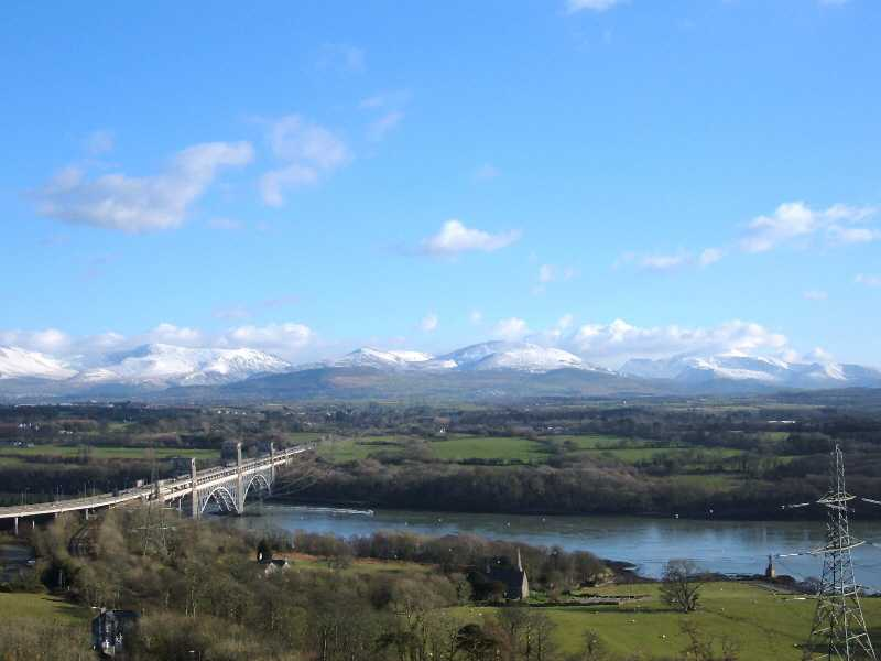 Snowdonia from the Anglesey Column