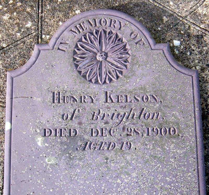 Memorial tablet to Henry Kelson