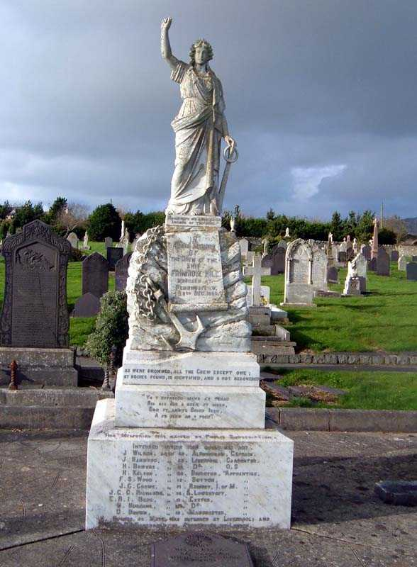 The Primrose Hill Memorial in Maeshyfryd Cemetery, Holyhead