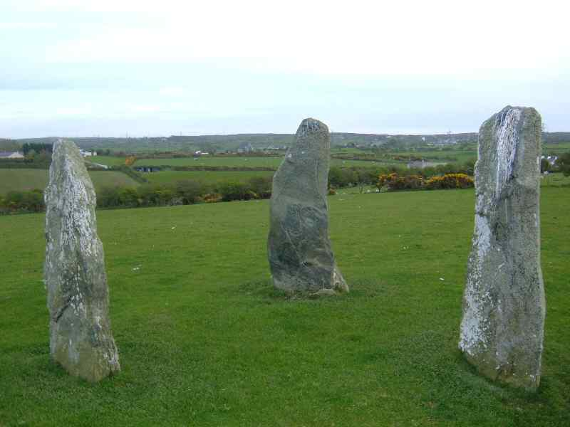 Three Standing Stones at Llanfechell